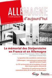 2018, 7 octobre : Le mémorial des Stolpersteine en France et en Allemagne
