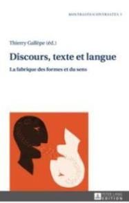 2016, Discours, texte et langue, Th. GALLÈPE